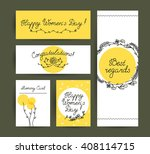 flat hand drawn holiday... | Shutterstock . vector #408114715