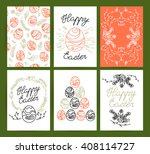 collection of flat hand drawn... | Shutterstock . vector #408114727