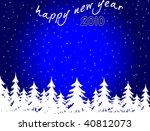 New Year background - stock photo