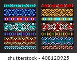 textile ribbons  braids in the... | Shutterstock .eps vector #408120925