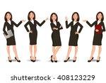 business girl | Shutterstock .eps vector #408123229