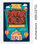 funfair circus template  banner ... | Shutterstock .eps vector #408123721