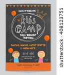 kids camp  summer festival... | Shutterstock .eps vector #408123751