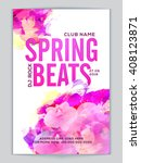 spring beats musical party... | Shutterstock .eps vector #408123871