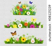 summer flowers bouquet... | Shutterstock . vector #408125239