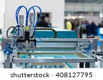 silk screen printing machine in ... | Shutterstock . vector #408127795