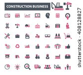 construction business icons  | Shutterstock .eps vector #408128827