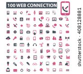 web connection icons  | Shutterstock .eps vector #408128881