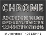 metal style font with shadow .... | Shutterstock .eps vector #408130441