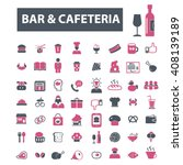 bar  cafe  cafeteria  pub icons  | Shutterstock .eps vector #408139189