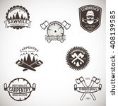 set of carpentry  lumberjack ...   Shutterstock .eps vector #408139585