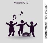 party vector icon | Shutterstock .eps vector #408142387