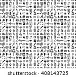 hand drawn seamless doodle... | Shutterstock .eps vector #408143725
