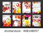 set of brochure  poster design... | Shutterstock .eps vector #408148057