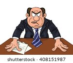 angry boss at the table | Shutterstock .eps vector #408151987