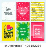 set of greeting summer card... | Shutterstock .eps vector #408152299