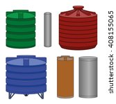 industrial water tanks set ...