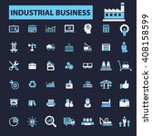 industrial business icons  | Shutterstock .eps vector #408158599