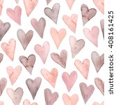 watercolor hearts seamless... | Shutterstock .eps vector #408161425