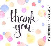 thank you lettering with... | Shutterstock .eps vector #408162439