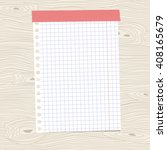 white squared notebook paper... | Shutterstock .eps vector #408165679