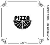 pizza icon. simple illustration. | Shutterstock .eps vector #408168391