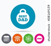 wifi  sms and calendar icons.... | Shutterstock .eps vector #408169159