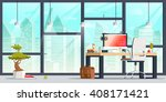 office workplace interior... | Shutterstock .eps vector #408171421