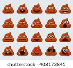 poop emoticons smileys vector... | Shutterstock .eps vector #408173845
