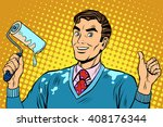 man repair paint | Shutterstock .eps vector #408176344