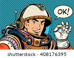 ok astronaut man okay gesture... | Shutterstock .eps vector #408176395