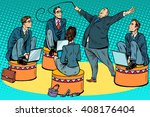boss businessmen trainer at the ... | Shutterstock .eps vector #408176404