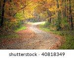 Beautiful Fall Scene On Curved...