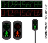 Pedestrian Traffic Light. Led...