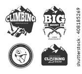 vintage mountain climbing logo... | Shutterstock .eps vector #408185269