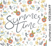 summer time. hand drawn... | Shutterstock .eps vector #408186649