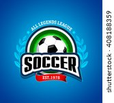 circle soccer  football logo.... | Shutterstock .eps vector #408188359
