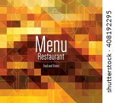 restaurant menu design. vector... | Shutterstock .eps vector #408192295