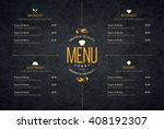 restaurant menu design. vector... | Shutterstock .eps vector #408192307