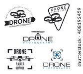 set of drone logos  badges and... | Shutterstock . vector #408193459