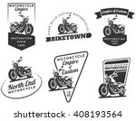 set of classic motorcycle... | Shutterstock . vector #408193564