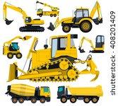 construction machinery yellow... | Shutterstock .eps vector #408201409
