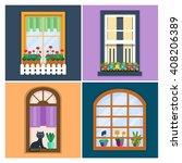 details   window set for... | Shutterstock .eps vector #408206389