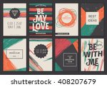set of vector creative greeting ... | Shutterstock .eps vector #408207679