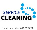 dry cleaning service logo...   Shutterstock .eps vector #408209497