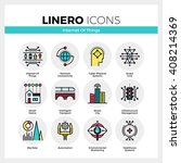 line icons set of internet of... | Shutterstock .eps vector #408214369