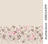 seamless floral border with... | Shutterstock .eps vector #408214399