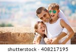 family  vacation  tourism... | Shutterstock . vector #408217195