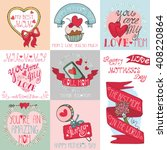 mothers day love romantic cards ... | Shutterstock . vector #408220864