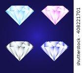 3d luxury diamond brilliant...   Shutterstock .eps vector #408221701